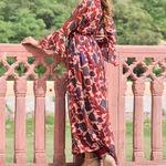 Thumb red georgette dress 4