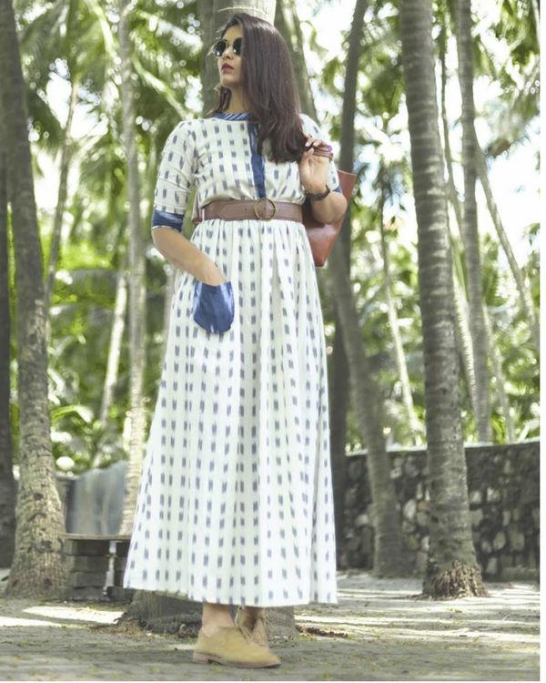 Blue White Ikat Dress 1