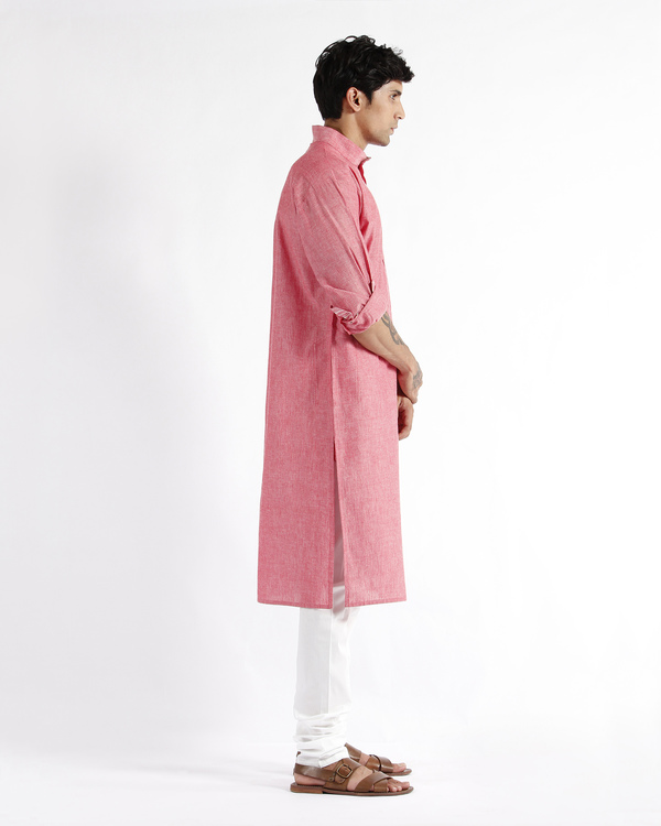 Handloom cotton drop shoulder kurta 1