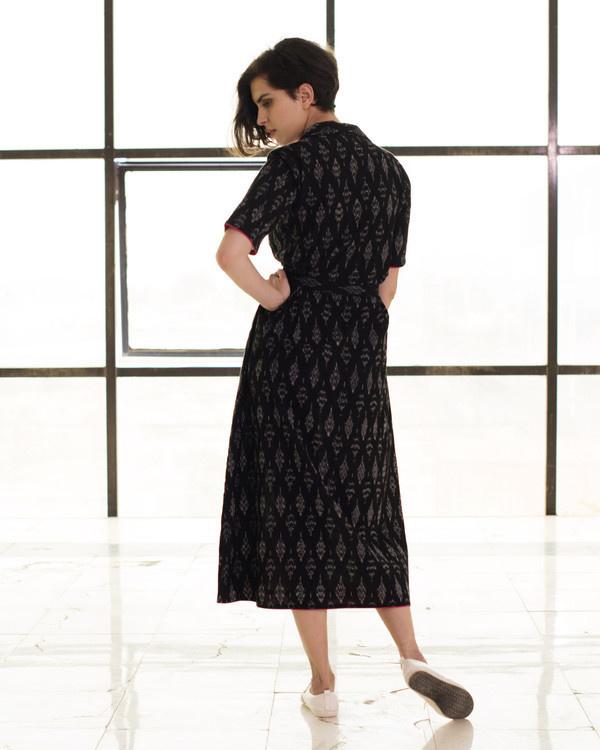 Black vintage buttoned jacket dress 2