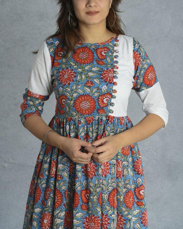 Floral block dress 1