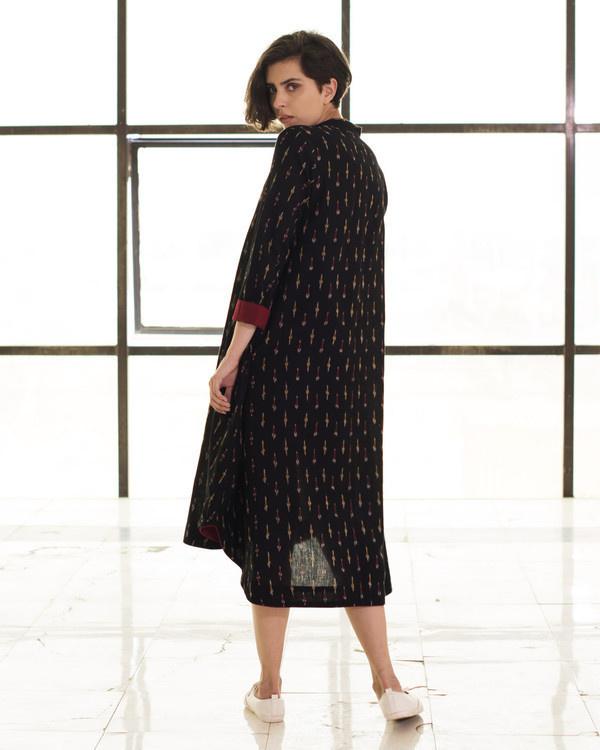Black boho swing dress 1