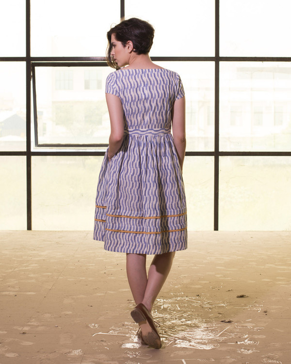 Chevron print seaside dress 1