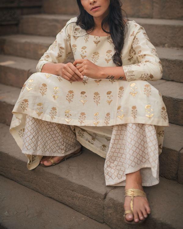 Chandi Ghera Kurta Set with Dupatta 1