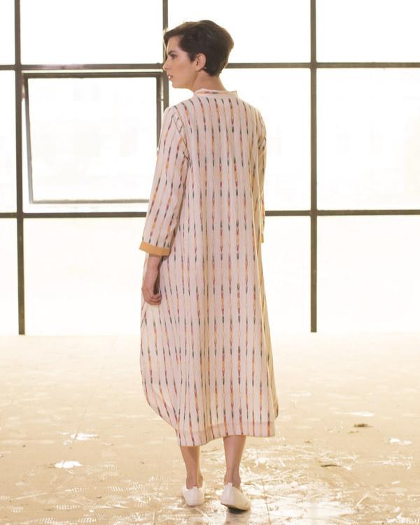 Ivory ikat boho swing dress 2