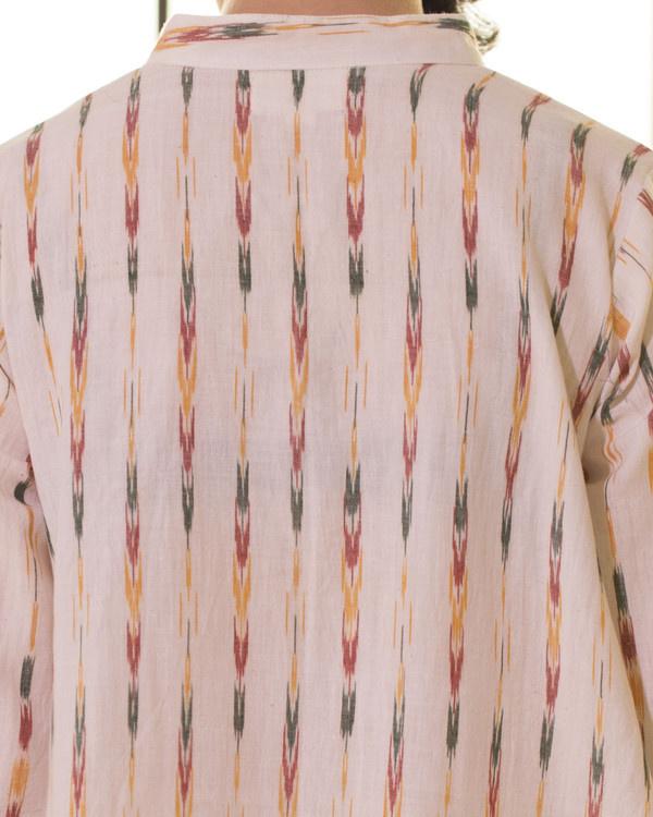 Ivory ikat boho swing dress 3