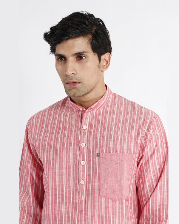 Handloom stripe cotton long kurta 3