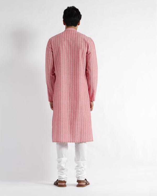 Handloom stripe cotton long kurta 2