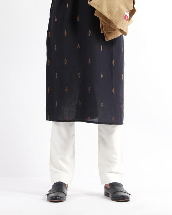 Ivory silk modal pyjama 1