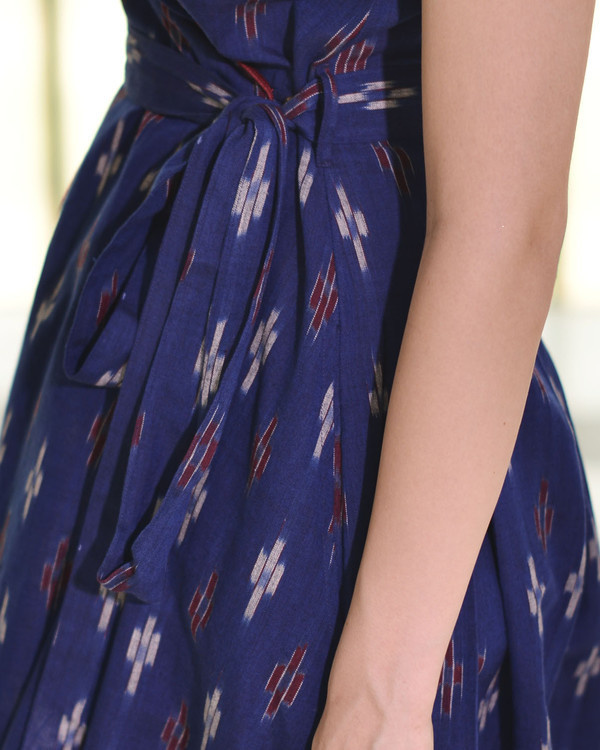 Midnight blue tie up dress 2
