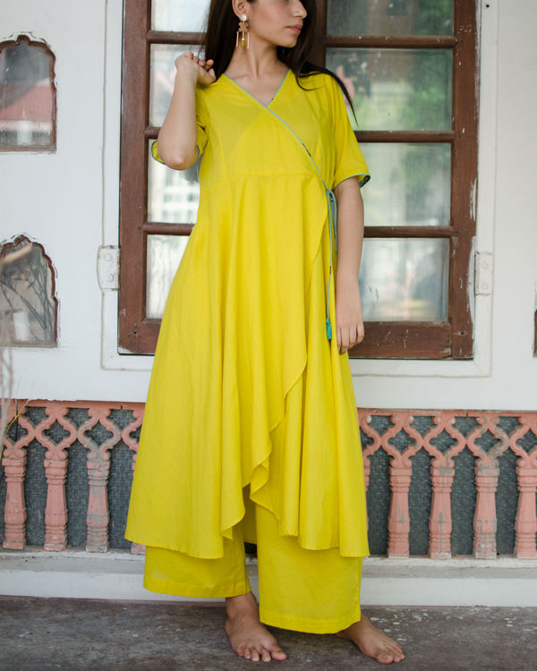 Circular angrakha with pants and dupatta 2