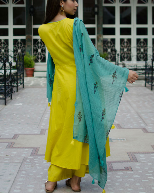 Circular angrakha with pants and dupatta 1