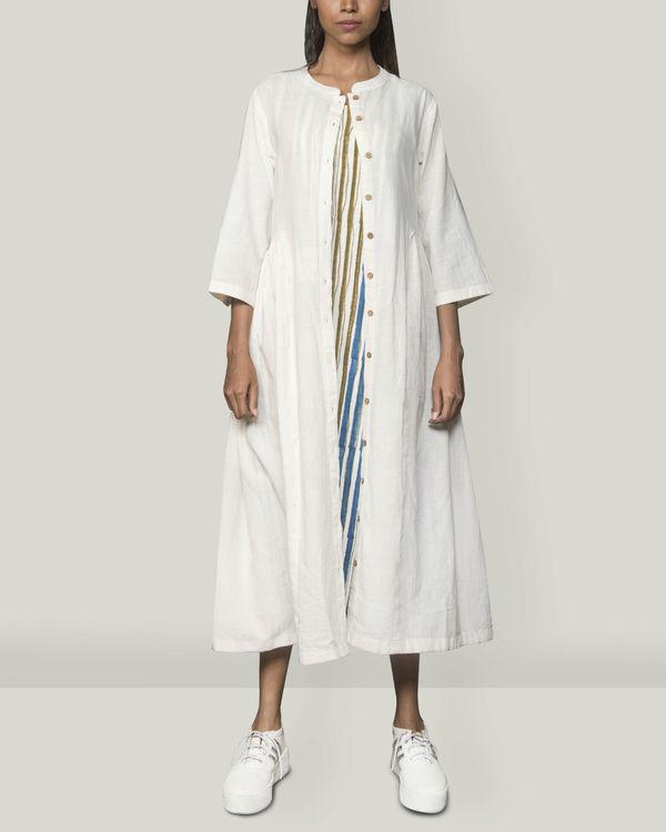 Pleated  Khadi jacket dress 2