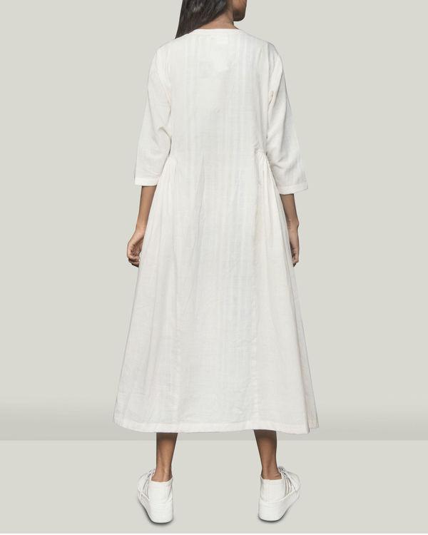 Pleated  Khadi jacket dress 1