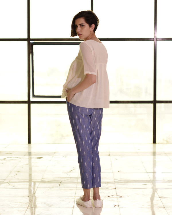 Navy pencil pants 2