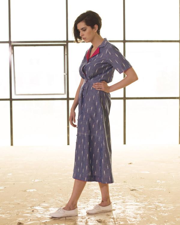 Vintage style double button dress 1