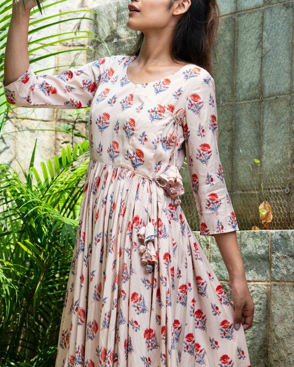 Beige angrakha style dress 1