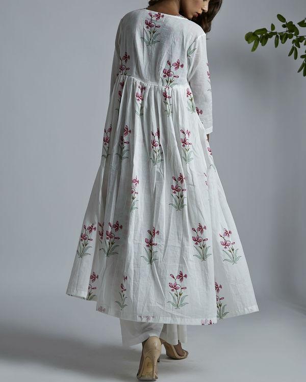 Magenta lily pleated jacket 1