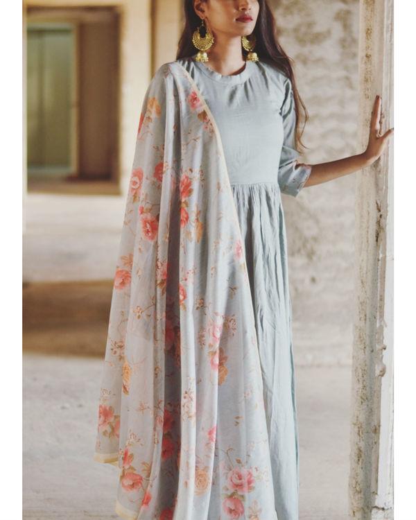 Pastel Blue Garden Dress 1