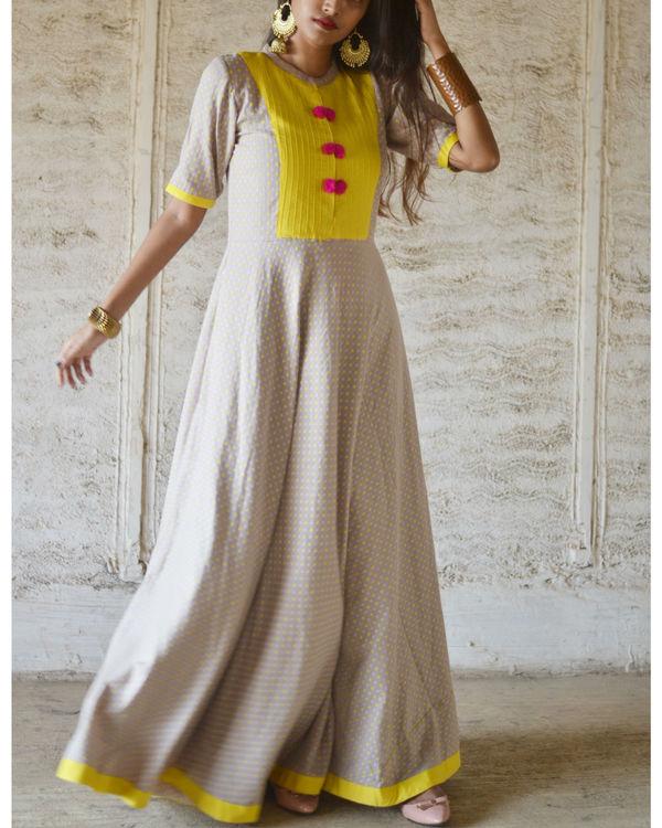 Yellow yoke pompom dress 3