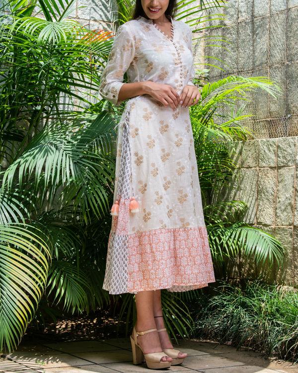 Multiple prints khadi cotton maxi 4