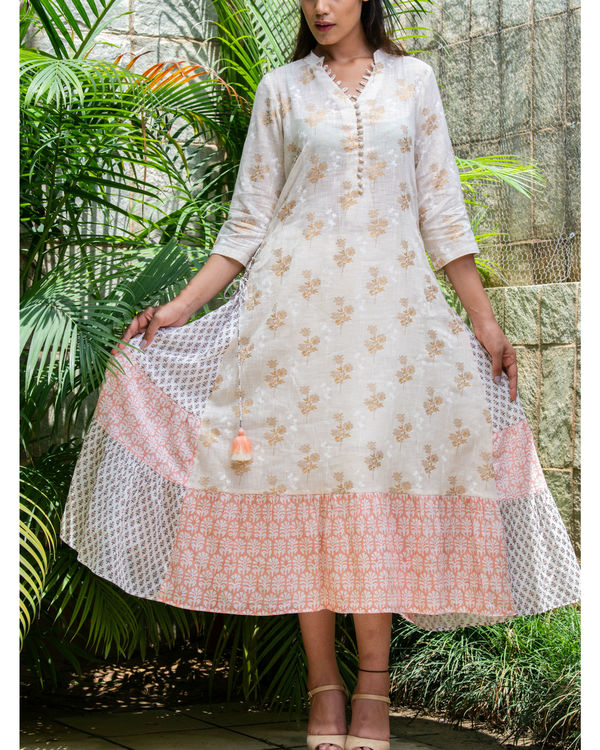 Multiple prints khadi cotton maxi 1