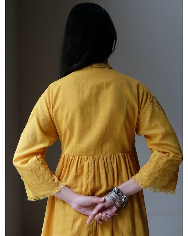 Yellow zari angrakha dress 1