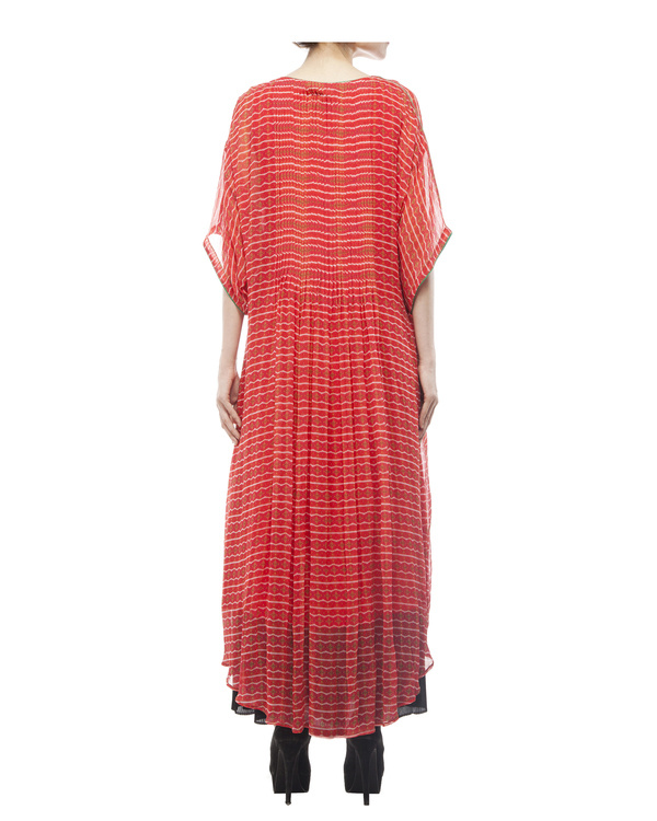 Printed long tunic with pintuks 3