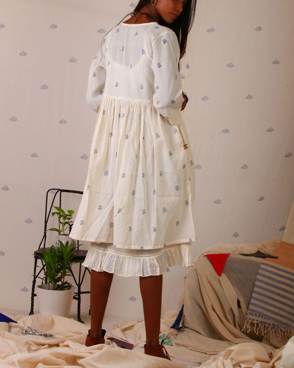 Block printed shirt dress 1