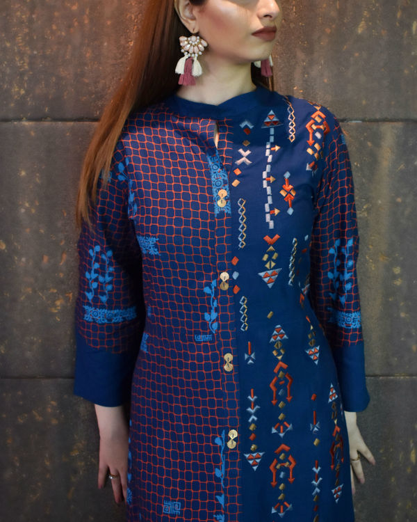 Blue high low tunic 1