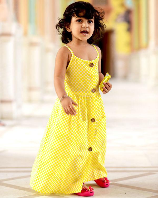 Yellow check dress 2