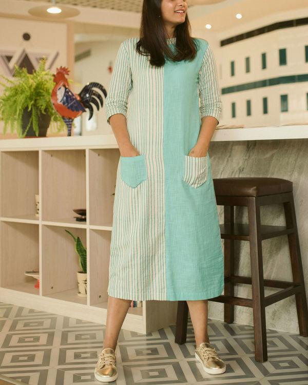 Sea green Line dress 1