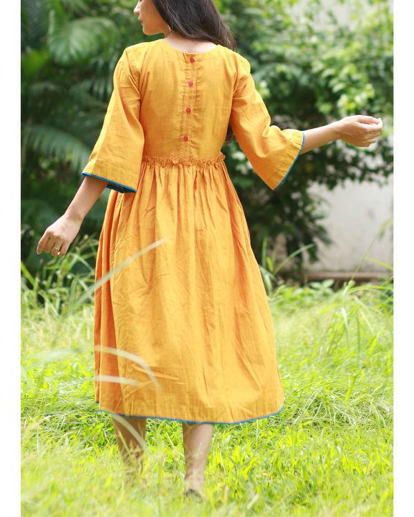 Mustard yoke dress 2