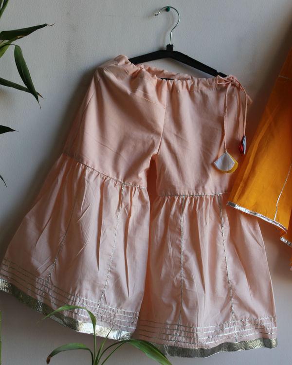 Peach gota sharara set 2