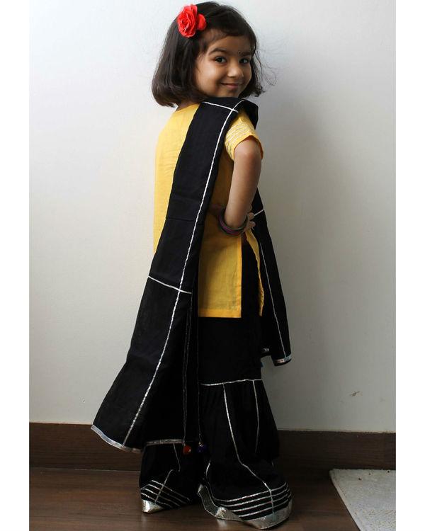 Black and yellow sharara set 1