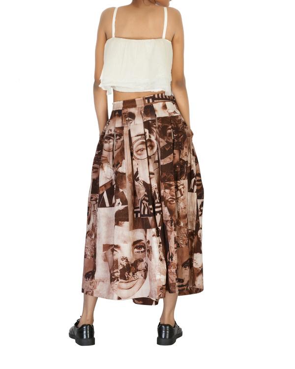 High waisted pleated skirt 1