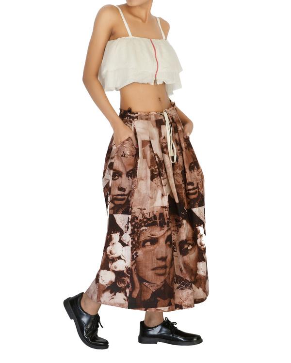 High waisted pleated skirt 2