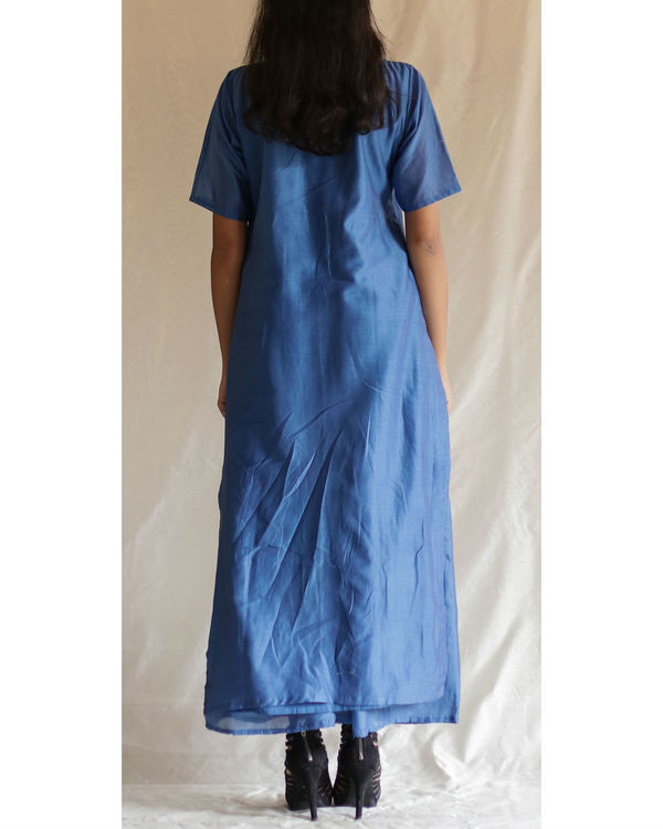 Blue lotus stem kurta with palazzos 1