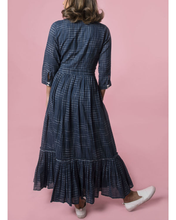 Indigo tiered maxi dress 1