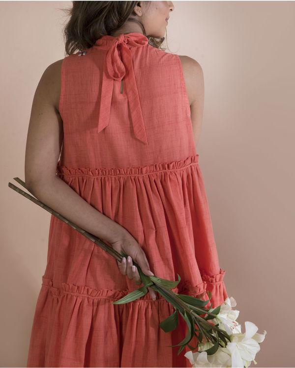 Tangerine bee swing dress 1