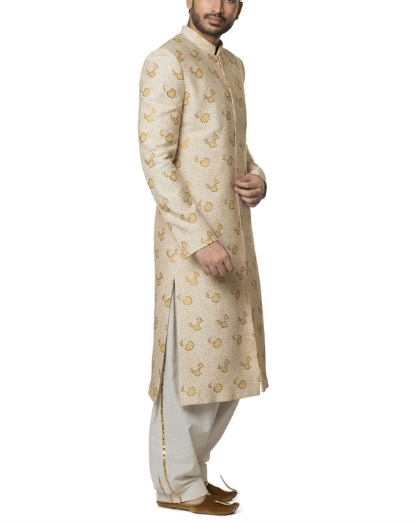 Sequins work sherwani set 2