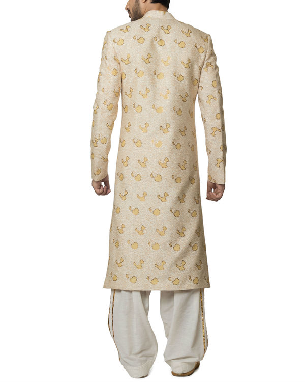 Sequins work sherwani set 1