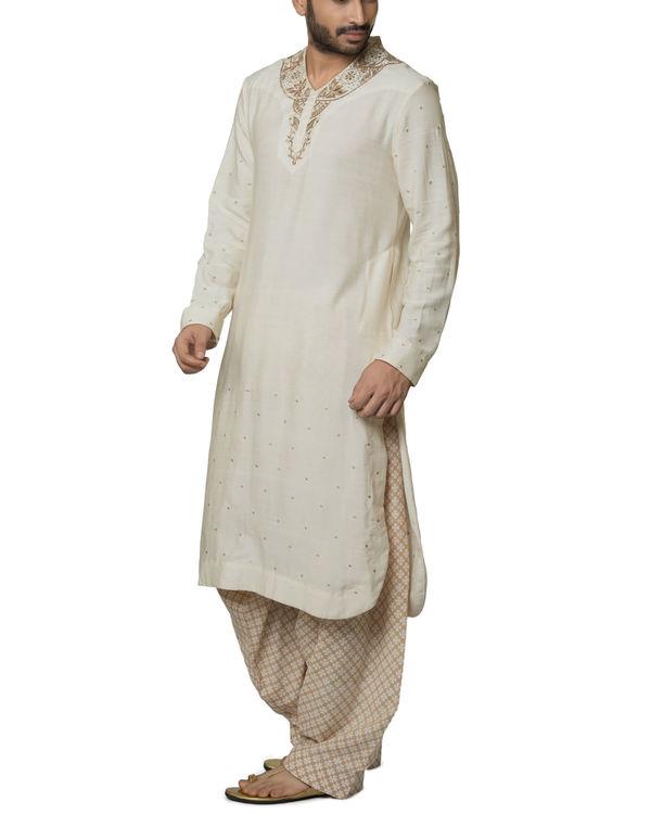 Cotton kurta with hand block printed patiala 2
