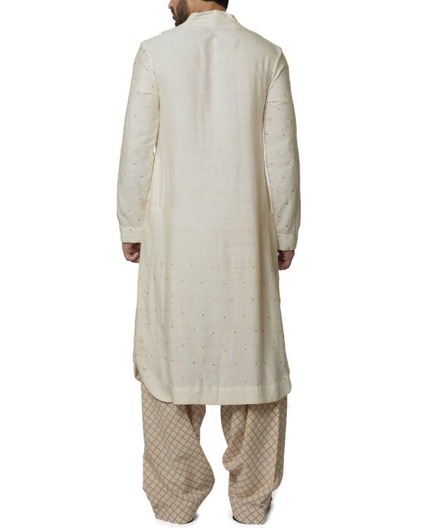 Cotton kurta with hand block printed patiala 1