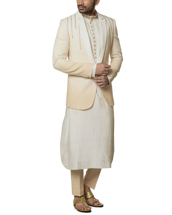 Khadi cotton Shaded kurta set 2