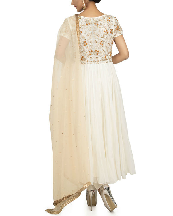 White zardozi anarkali set 1