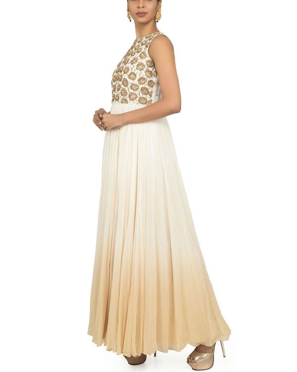 Ombre zardozi torso dress with churidar 2