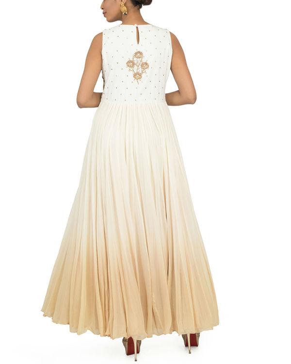 Ombre zardozi torso dress with churidar 1