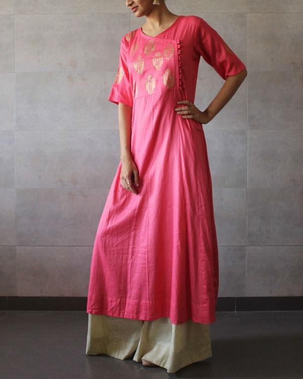 Pink kediya style kurta 2