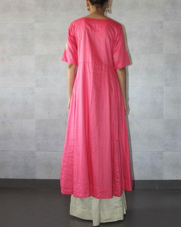 Pink kediya style kurta 1